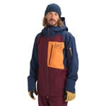 AK Burton Gore Cyclic Jacket Port Royal/Dress Blue/Russet Orange