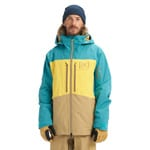 AK Burton Swash Jacket Green-Blue Slate/Maize/Kelp
