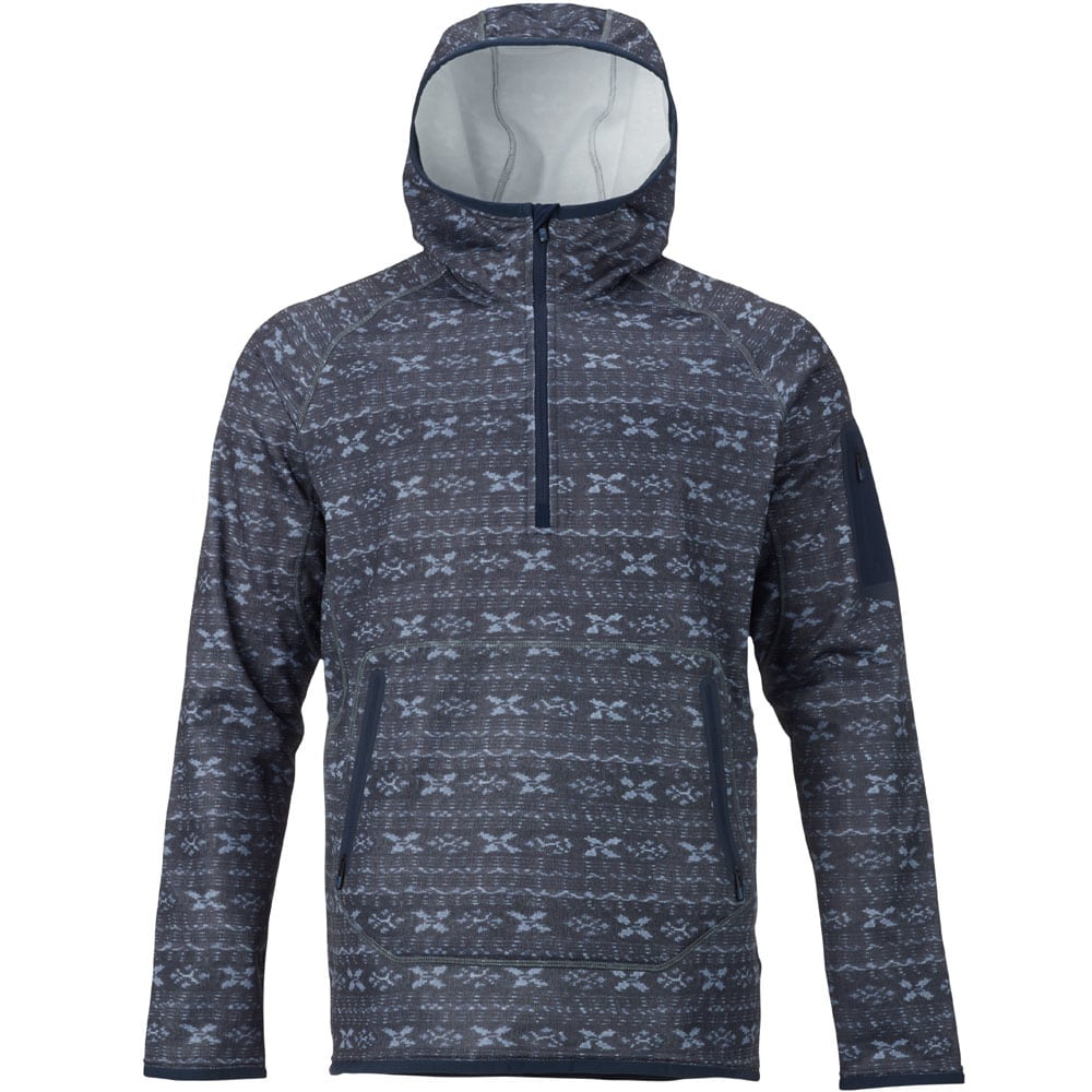 Burton AK Piston Hoodie Herren-Funktionsfleece Washed Blue