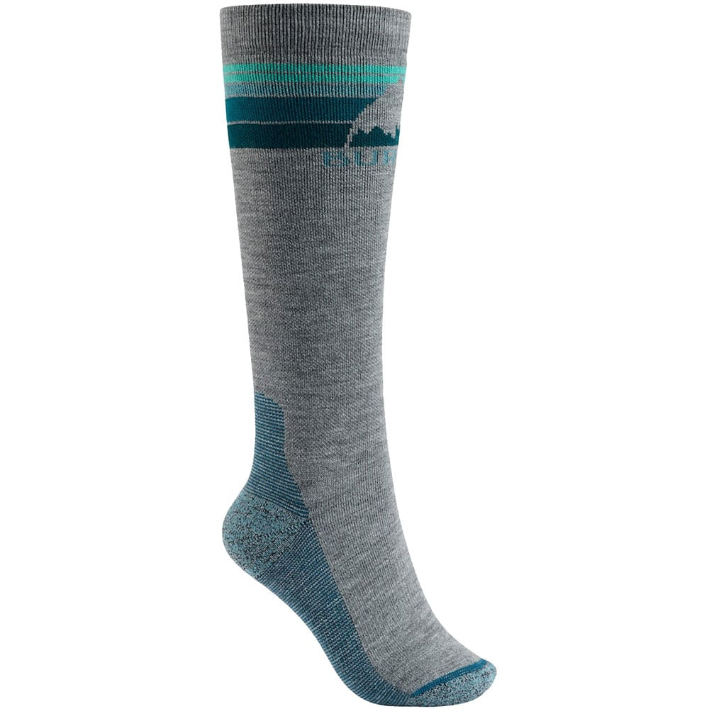Burton Emblem Midweight Damen-Socken Gray Heather