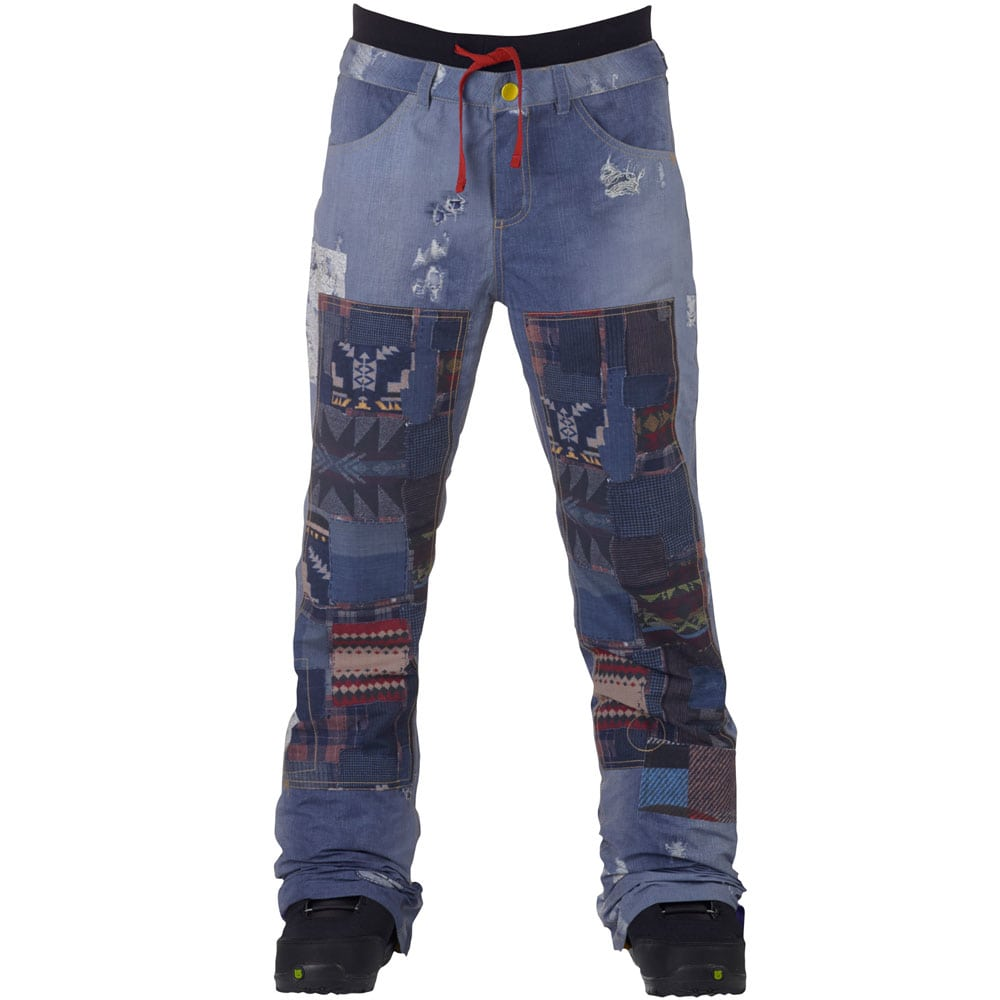 burton lamb buju cargo pant damen snowboardhose denim print fun sport vision. Black Bedroom Furniture Sets. Home Design Ideas