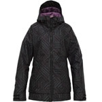 Burton TWC Hot Totti Jacket Damen-Snowboardjacke True Black/Gho