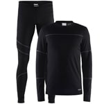 Craft Be Active Herren-Baselayer-Set Black/Granite