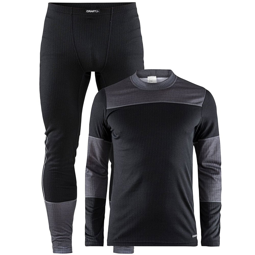 Craft Be Active Herren-Baselayer-Set Black/Dark Grey