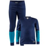 Craft Be Active Junior-Baselayer-Set Maritime/Zen