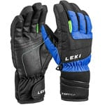 Leki Nico Junior Gloves Kinder-Skihandschuhe Royal/Black-Lime