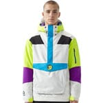 Oneill Frozen Wave Anorak Herren-Jacket Powder White