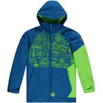 Oneill Grid Jacket Kinder-Snowboardjacke Blue/Green