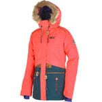 Picture Apply Jacket Damen-Snowboardjacke Neon Coral/Dark Green