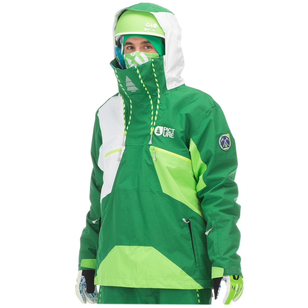 The waterproof rating on snowboard outerwear is how many millimeters of rain pounding the material the jacket is made out of (or coated with) can take in a day before you get wet. Essentially a 10K snowboard jacket (10,mm waterproof rating) can withstand almost 33ft of water in a day before you.