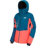 Picture Seen Jacket Damen-Snowboardjacke Petrol Blue/Neon Coral