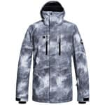 Quiksilver Mission Printed Herren-Snowboardjacke Grey Simple Texture