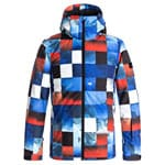 Quiksilver Mission Printed Youth Kinder-Skijacke Blue Red Icey Check