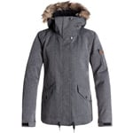 Roxy Grove Jacket Damen-Snowboardjacke Herringbone Grey