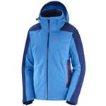 Salomon Brilliant Jacket Damen-Skijacke Hawaiian Surf