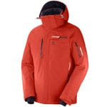 Salomon Brilliant Jacket Herren-Skijacke Fiery Red