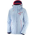Salomon Fantasy Jacket Damen-Skijacke White Hawaiian Surf