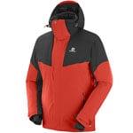 Salomon Icerocket Jacket Herren-Skijacke Fiery Red/Black