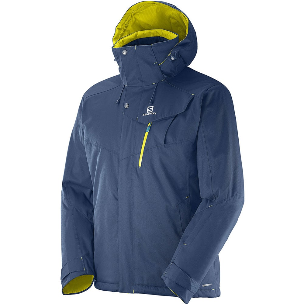 salomon impulse ski jacket herren skijacke 375253 midnight blue yellow fun sport vision. Black Bedroom Furniture Sets. Home Design Ideas
