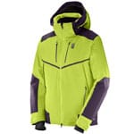 Salomon Whitefrost Flowtech Jacket Herren Skijacke - Acid Lime/
