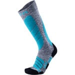 UYN Ski Pro Race Lady Damen-Funktionssocken Grey/Turquoise