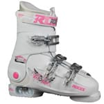 Roces Idea Free Kinder-Skistiefel White/Deep Pink - 2017