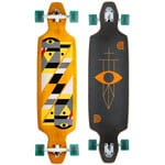 Goldcoast Longboard Drop Through Serpentagram Yellow