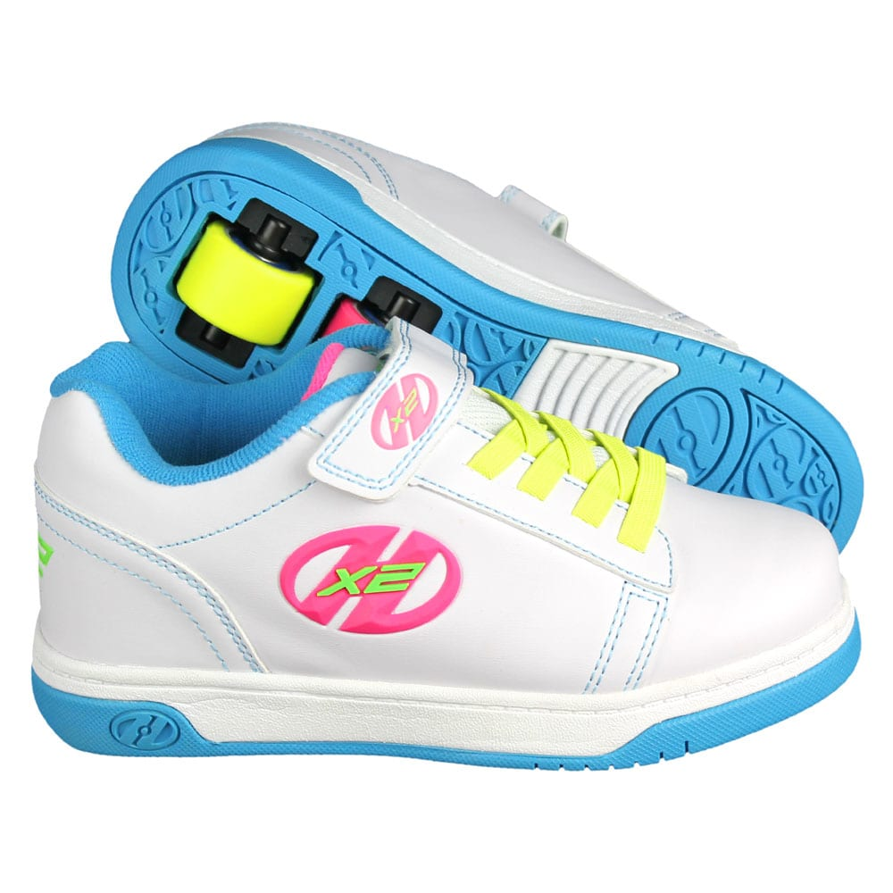 heelys rollschuhe x2 dual up white neon multi fun sport. Black Bedroom Furniture Sets. Home Design Ideas