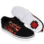 Heelys GR8 Black/Red/Flames