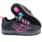 Heelys Pow X2 Lighted Rollschuhe Black/Neon Pink