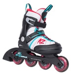 K2 Merlin Jr. Girls Kinder Inline Skates - Black/White/Pink