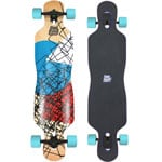 Long Island Cube Komplett Longboard Drop Through - Turquise