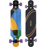Elixir Medusa Fiberflex Complete Longboard Drop Through - Purple