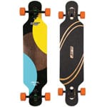 Elixir Pegasus Fiberflex Complete Longboard Drop Through - Orange