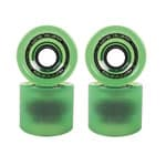 Long Island Hurricanes Cruising Longboard Wheels 80A - Green/Trans