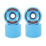 Long Island Hurricanes Freestyle Longboard Wheels 71mm 83A - Blue