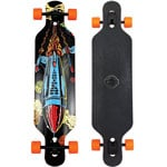 Long Island Rocket Complete Longboard - Orange/Olive