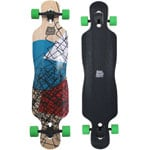 Long Island Shore Cube Complete Longboard - Black/Green