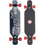 Long Island Wave Complete Longboard - Red/Orange
