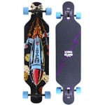 Long Island Rocket Complete Longboard - Blue/Purple