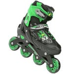 Roces Compy 6.0 Kinder Inline Skates Black Light Green)