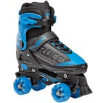 Roces Quaddy Boy Groessenverstellbare Kinder-Rollschuhe Black/Blue