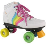Rookie Rollerskates Forever White Rainbow
