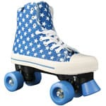 Rookie Rollerskates Canvas High Polka Stars Blue White