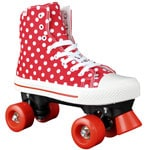 Rookie Rollerskates Canvas High Polka Dots Red White