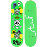 Stuf Kids Skateboard - Green/Yellow