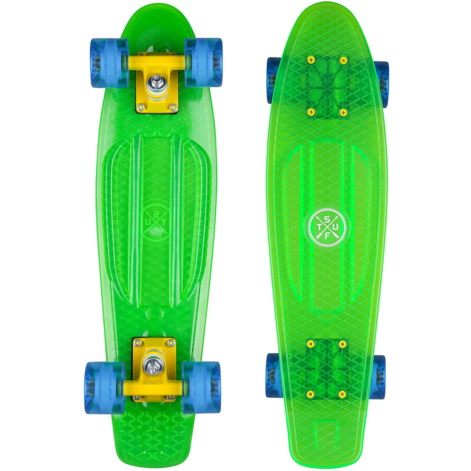 Stuf Retro Ocean Mini Cruiser Skateboard 131146-002 - Green