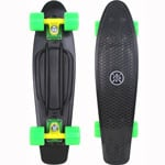 Stuf Retro Venice Mini Cruiser Skateboard 131146-001 - Black/Green
