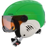 Alpina Carat Visor Kinder-Skihelm Green/Blue Asymmetric