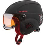 Alpina Carat LE Visor HM Kinder-Skihelm Black-Red Matt